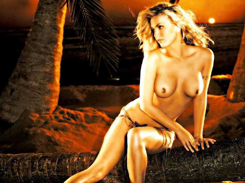 Willa Ford Maplelawn Topless on Tree