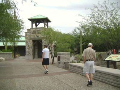 Joe and Dennis at entrance of Sabino Canyon